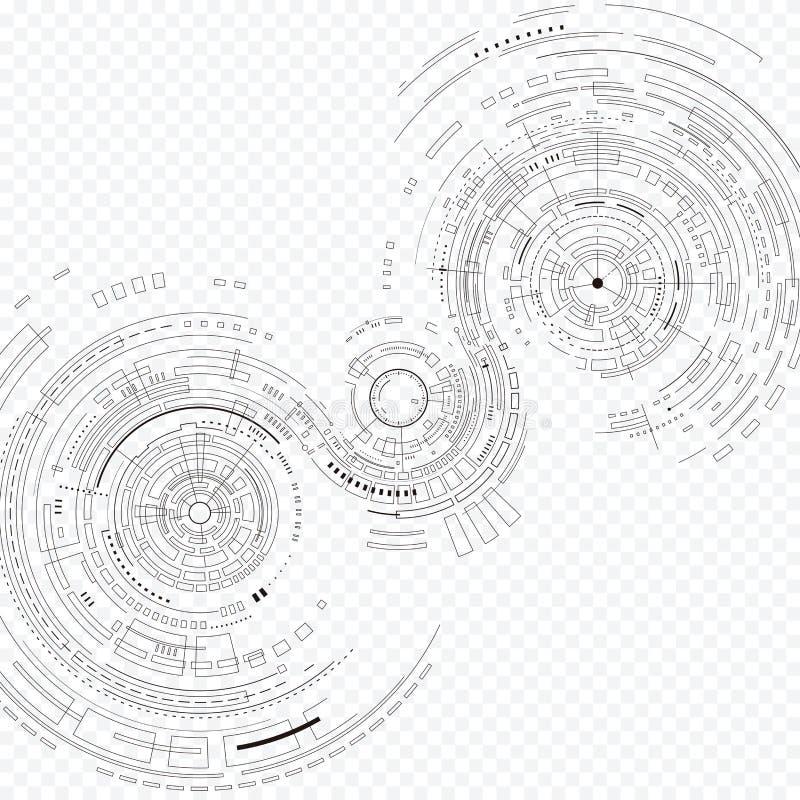 Fond de composition en technologie illustration stock