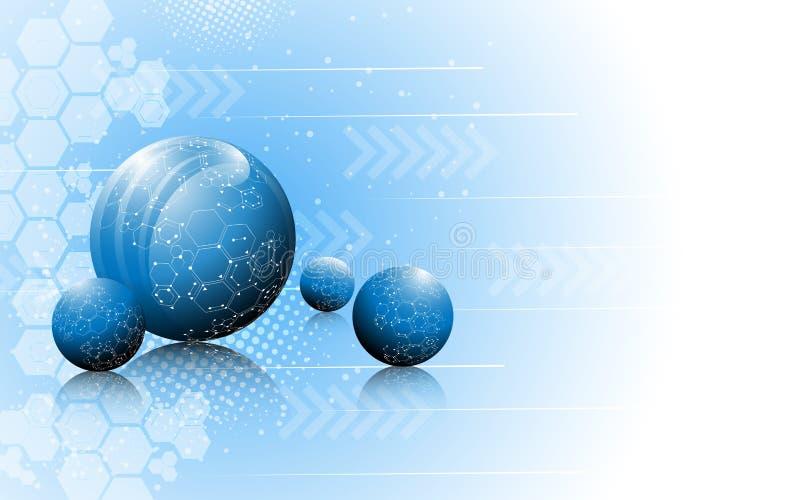 Fond de concept d'innovation de la science abstraite de vecteur illustration de vecteur