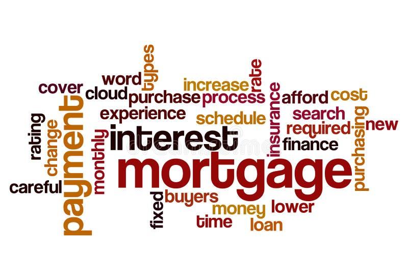 Fond de concept de paiement des intérêts d'intérêts hypothécaires illustration libre de droits