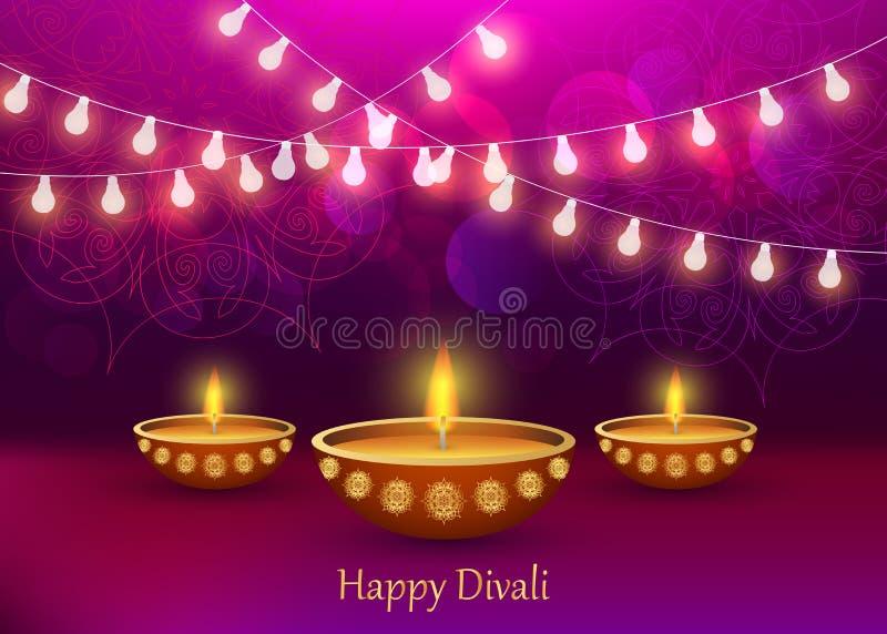 Fond de concept de Diwali, style réaliste illustration stock