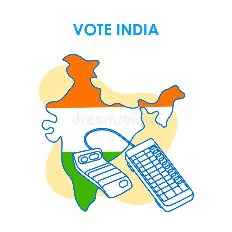 Fond de concept pour le vote Inde pour la bannière de campagne de démocratie d'élection image stock