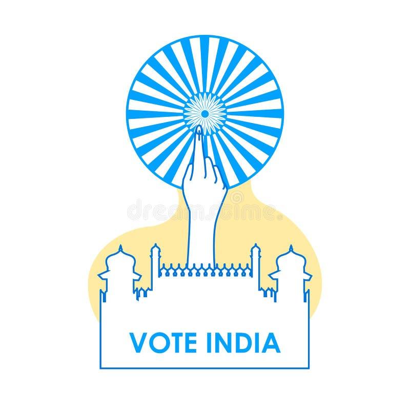 Fond de concept pour le vote Inde pour la bannière de campagne de démocratie d'élection photos stock
