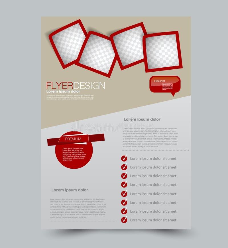 Fond de conception d'insecte calibre de brochure illustration stock