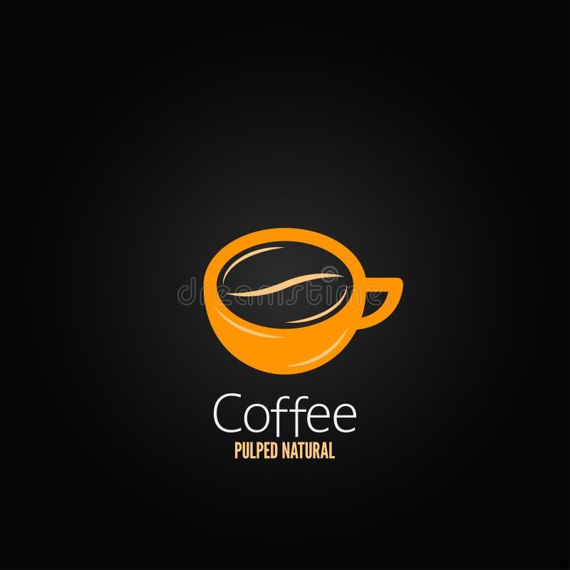 Fond de conception de l'avant-projet de haricot de tasse de café illustration de vecteur