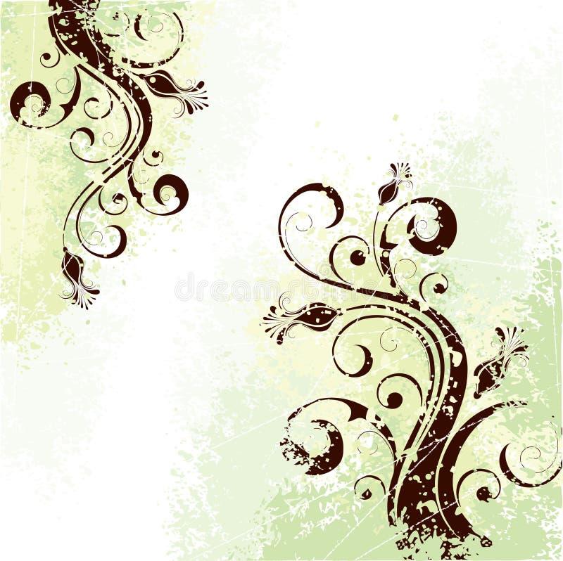 Fond de conception florale illustration stock