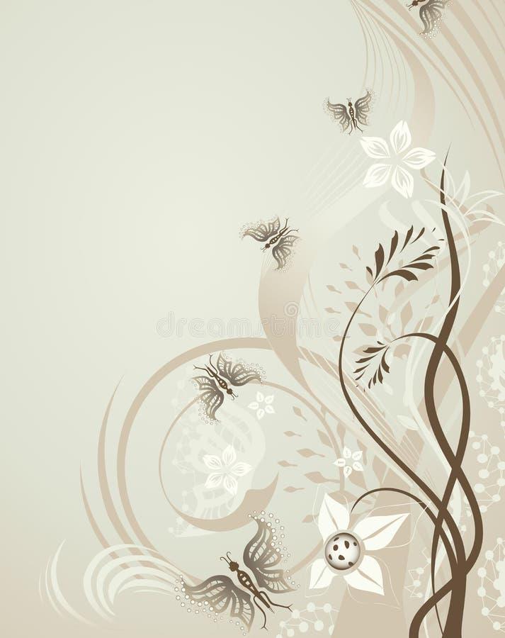 Fond de conception florale?, contexte, conception de l'illustration illustration libre de droits