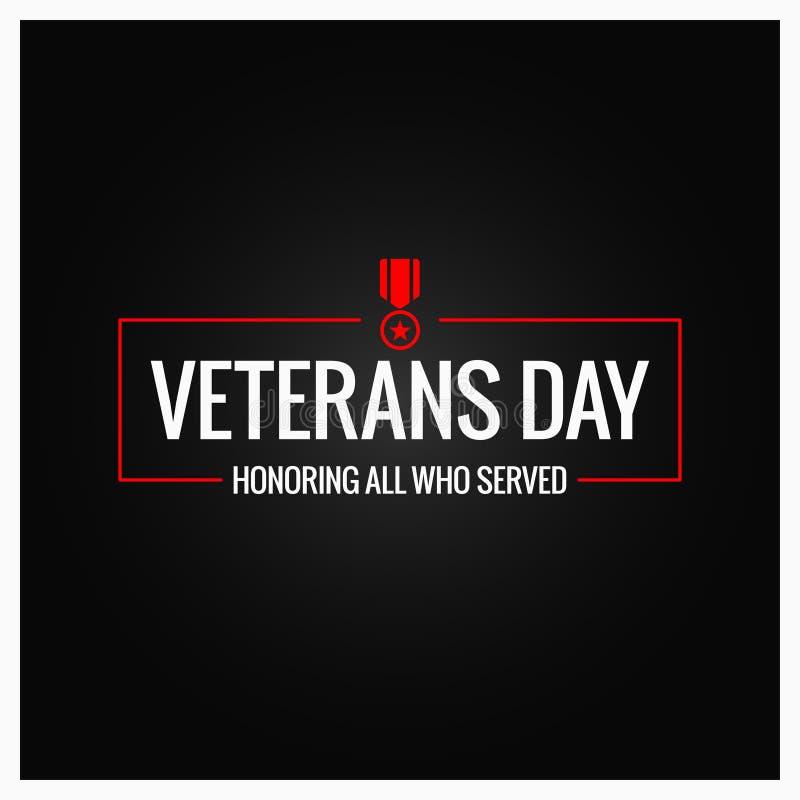 Fond de conception de logo de jour de vétérans