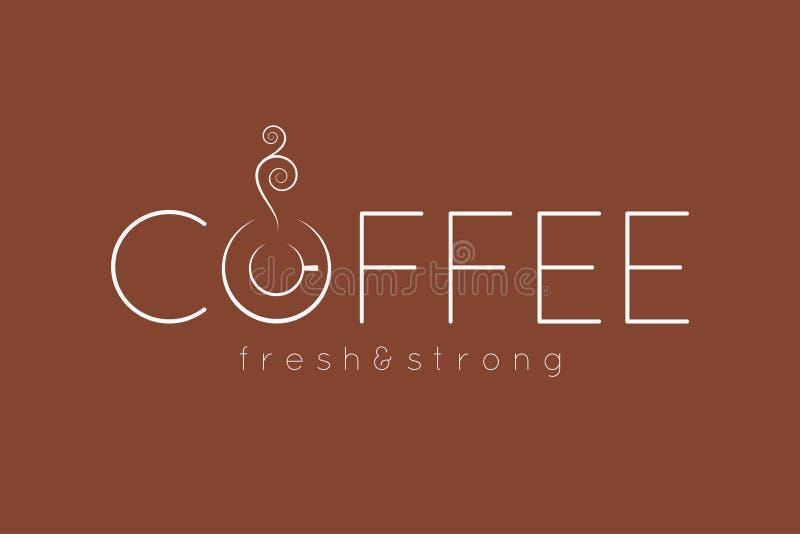 Fond de conception de menu de logo de café illustration de vecteur