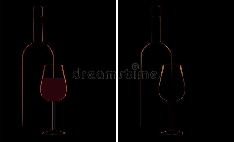 Fond de conception de verre à bouteilles de vin illustration de vecteur
