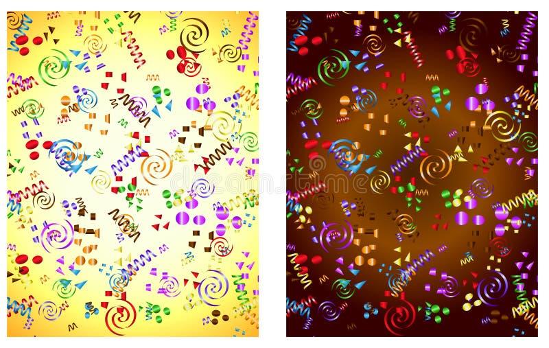 Fond de confettis illustration stock