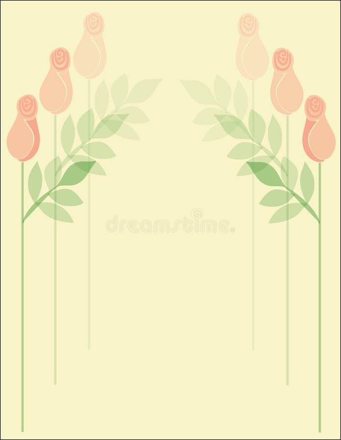 Fond de configuration de Rose illustration de vecteur