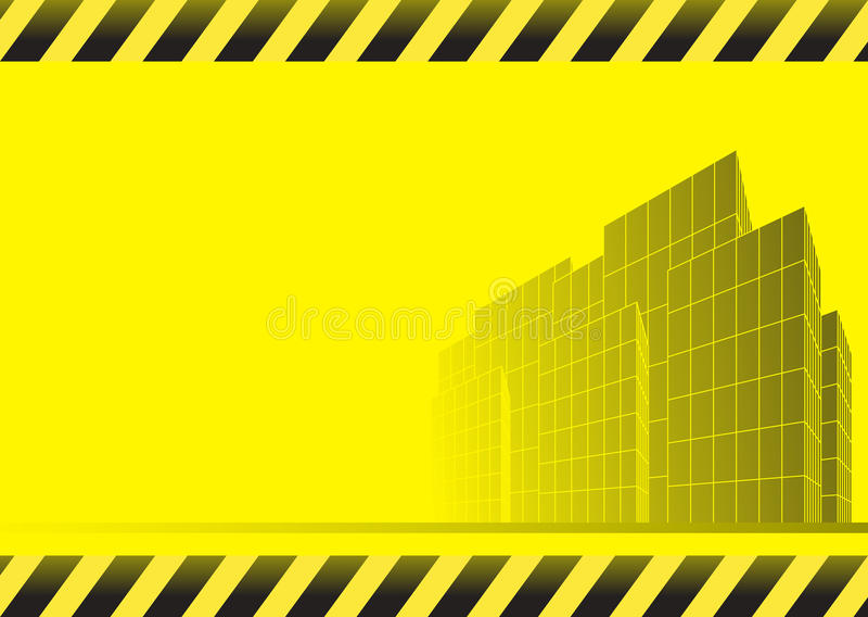Fond de construction avec des gratte-ciel illustration stock
