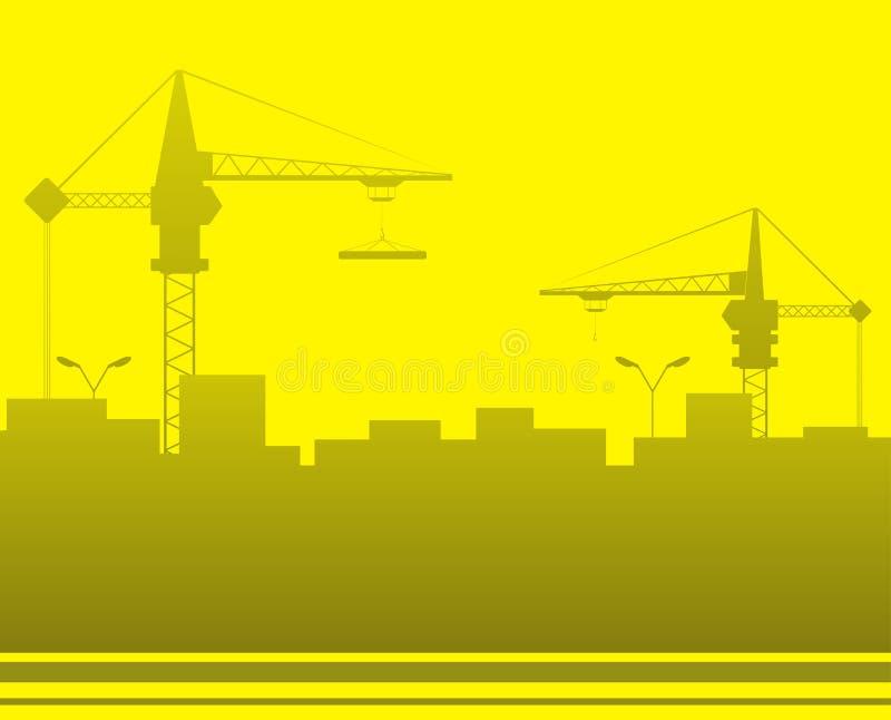 Fond de construction avec l'espace pour le texte illustration de vecteur