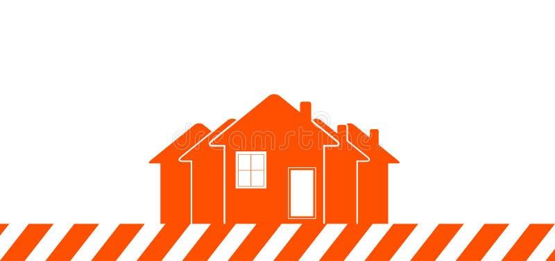 Fond de construction avec la maison illustration libre de droits