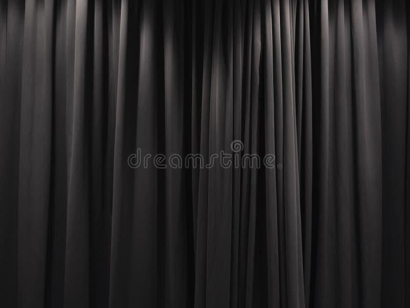 Fond de contexte de rideau en noir de rideau en étape photos stock