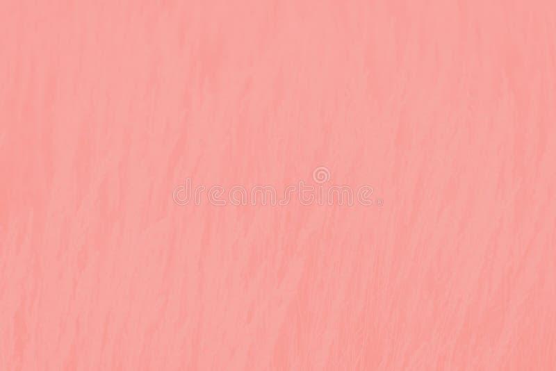 Fond de corail rose de couleur avec le modèle sensible d'herbe, texture d'absrtact images stock