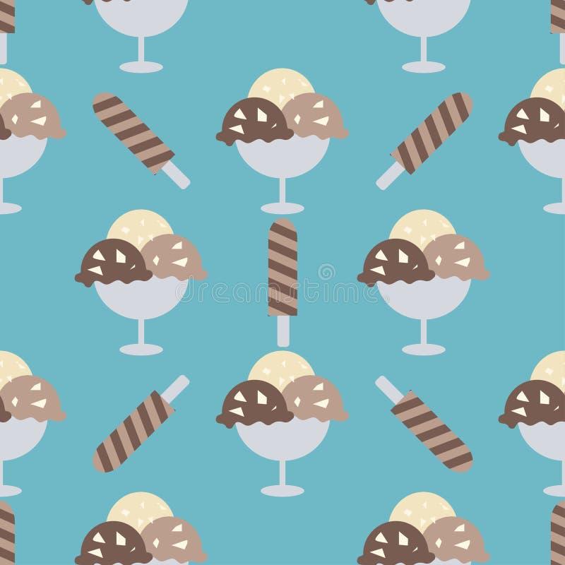 Fond de cornets de crème glacée illustration de vecteur