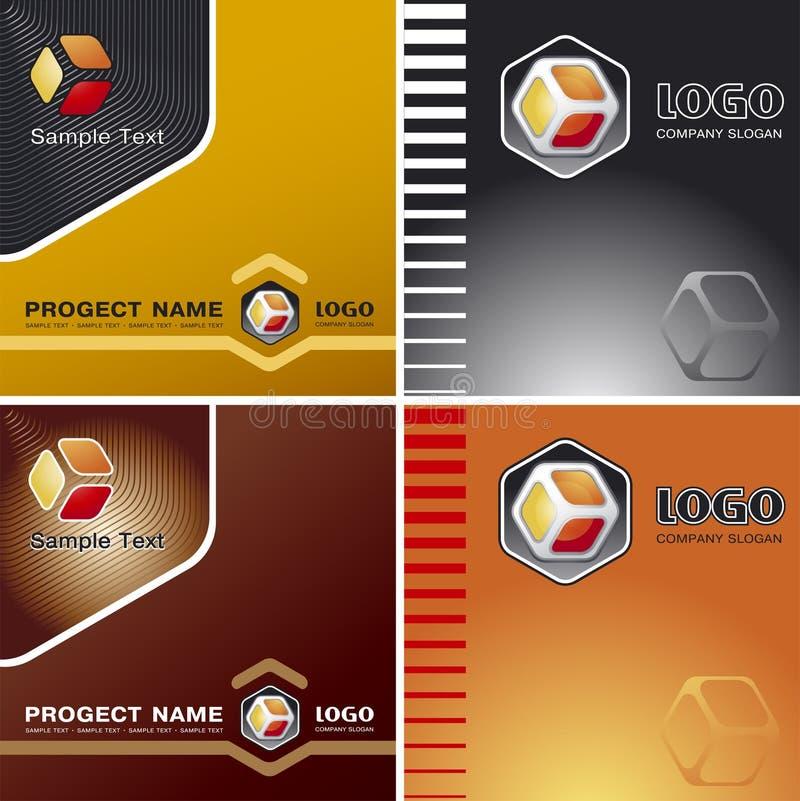 Fond de corporation de descripteur de vecteur avec le logo illustration de vecteur