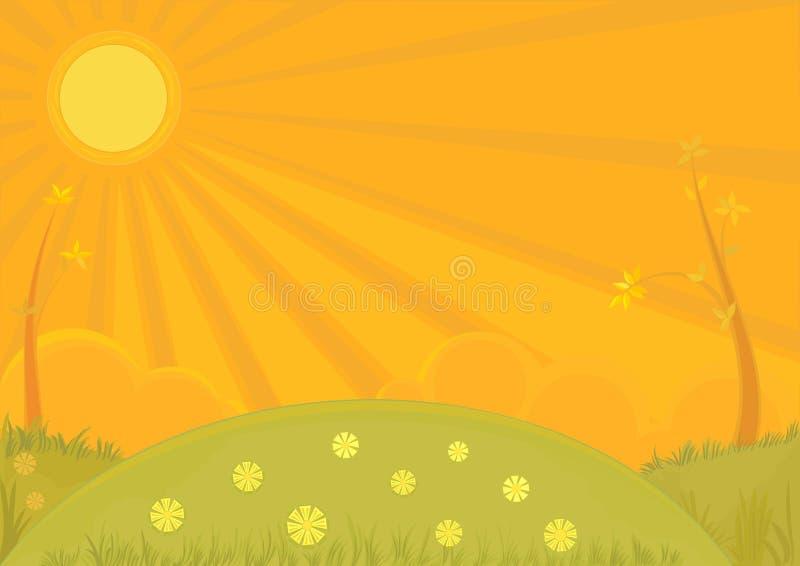 Fond de coucher du soleil illustration stock