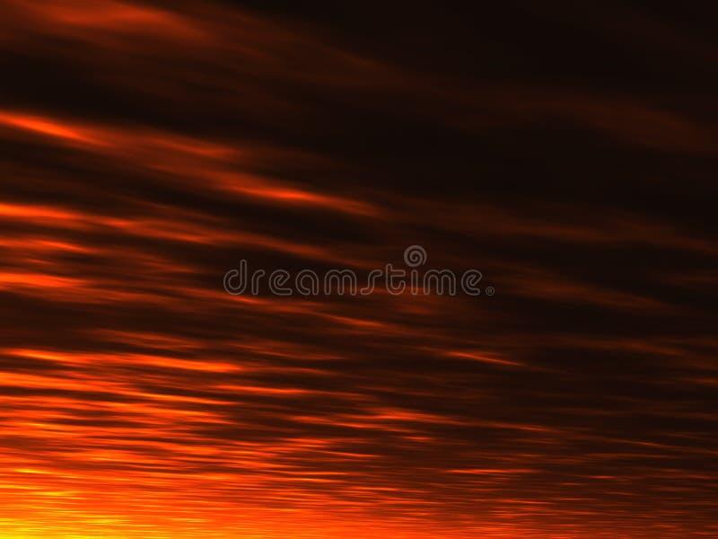 Fond de coucher du soleil d'été illustration libre de droits