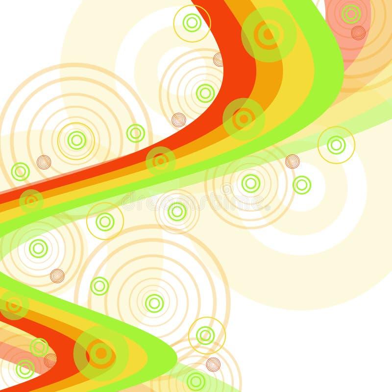 Fond de couleur avec des cercles illustration libre de droits