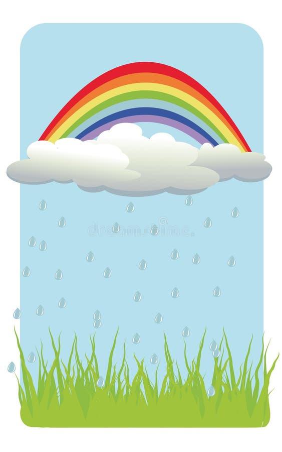 Fond de couleur avec l'arc-en-ciel illustration de vecteur