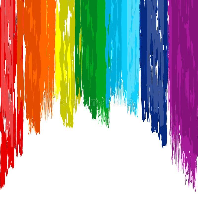 Fond de couleur d'abrégé sur brosse d'arc-en-ciel d'art illustration libre de droits