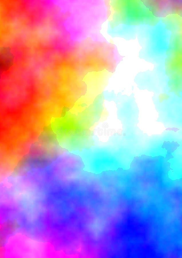 Fond de couleurs d'eau illustration libre de droits