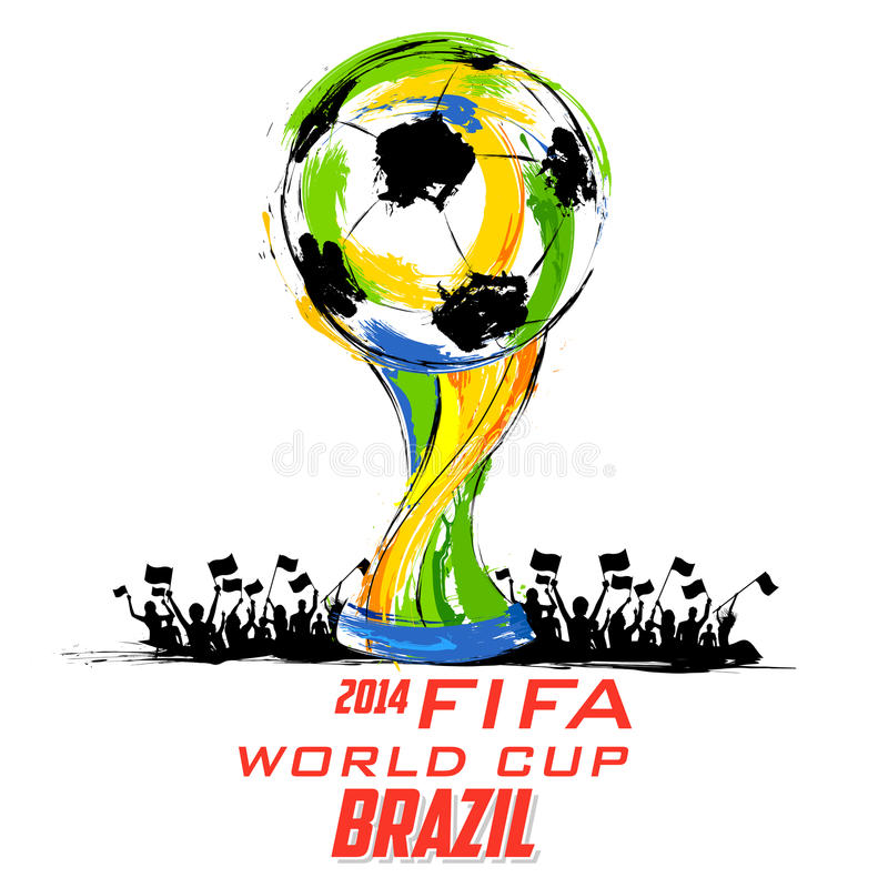 Fond de coupe du monde de la FIFA illustration stock