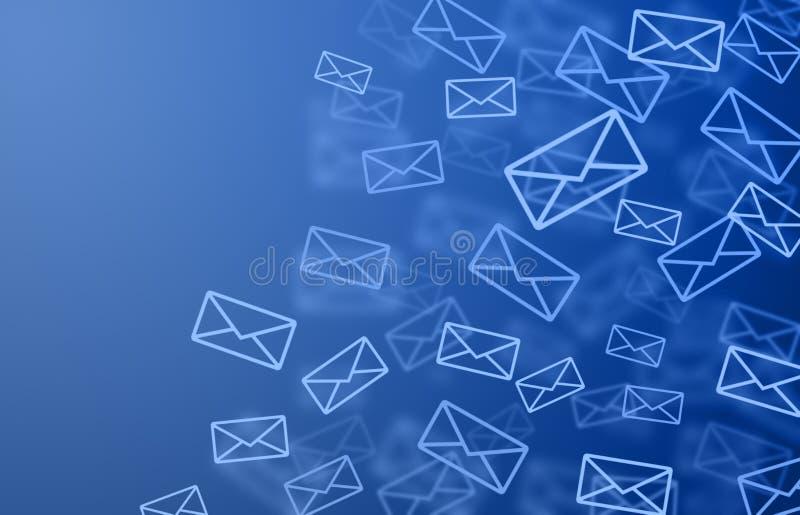 Fond de courrier illustration de vecteur