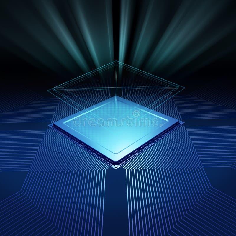 Fond de CPU illustration stock