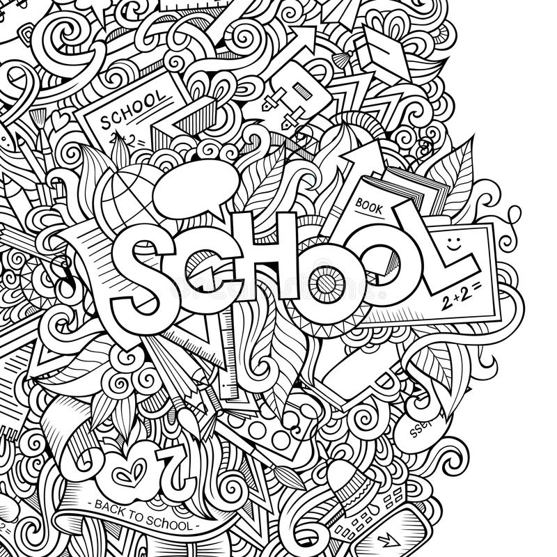 Download Fond De Croquis D'école De Vecteur De Bande Dessinée Illustration de Vecteur - Illustration du cartoon, notepaper: 45372224