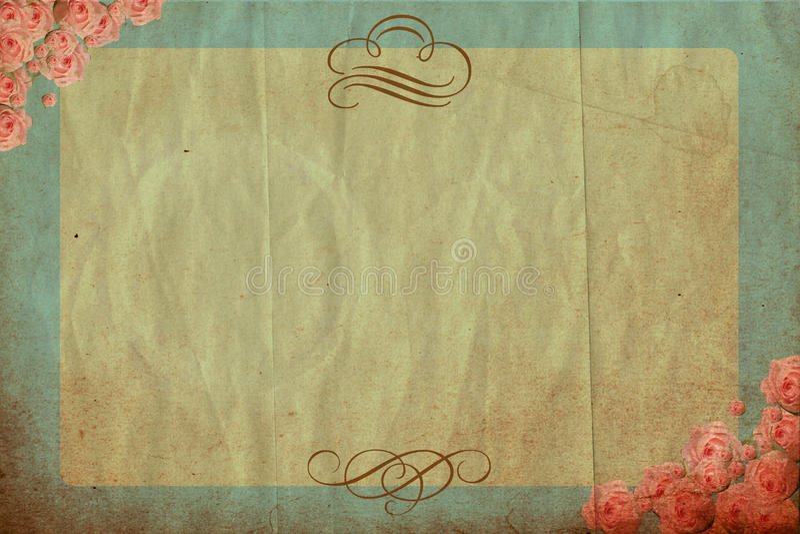 Fond de cru avec des fleurs de source illustration de vecteur