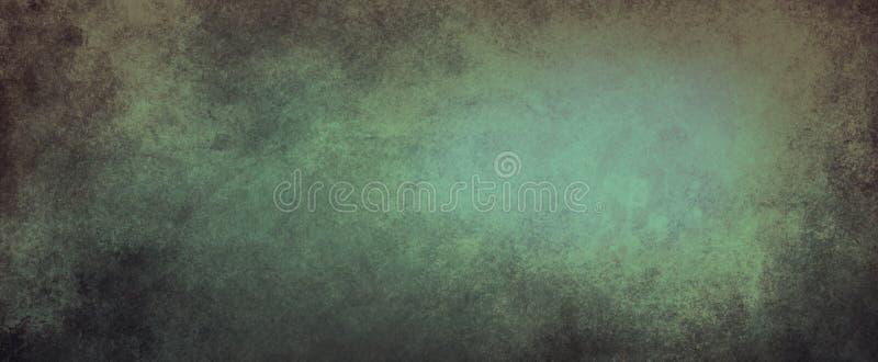 Fond de cru avec la texture grunge affligée et la conception de vert et noire douce de couleur, le mur élégant de site Web ou l'i illustration de vecteur