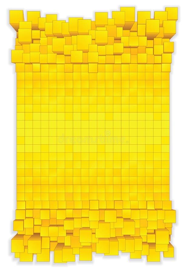 Fond de cube. Préparez pour votre texte et concevez. illustration stock
