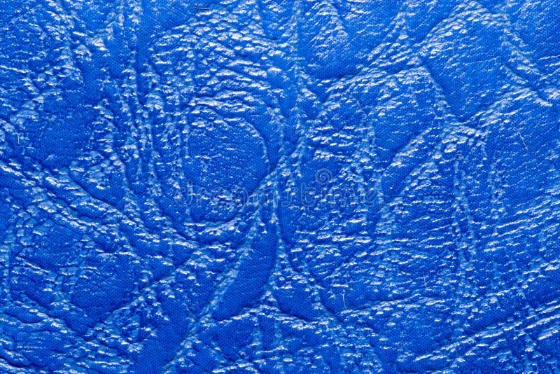 fond de cuir bleu photographie stock libre de droits