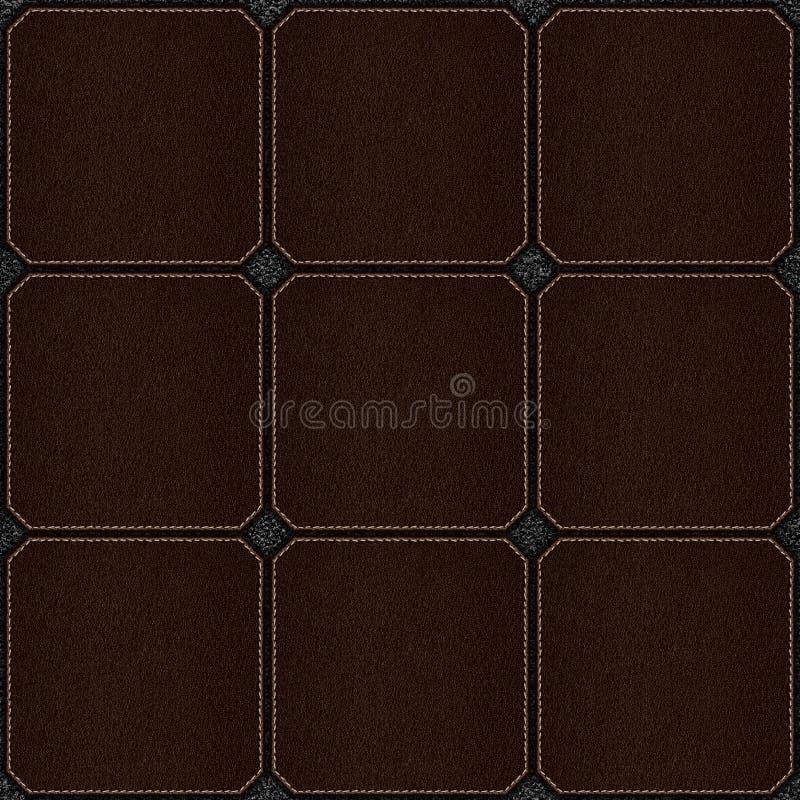 Fond de cuir de Brown image libre de droits
