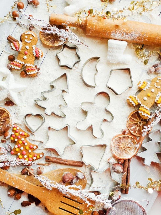 Fond de cuisson de Noël images libres de droits