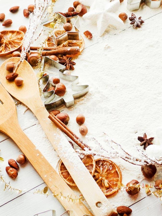 Fond de cuisson de Noël image libre de droits