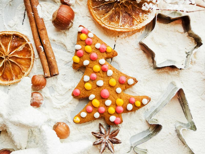 Fond de cuisson de Noël images stock