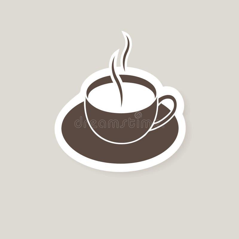 Fond de cuvette de café. illustration stock