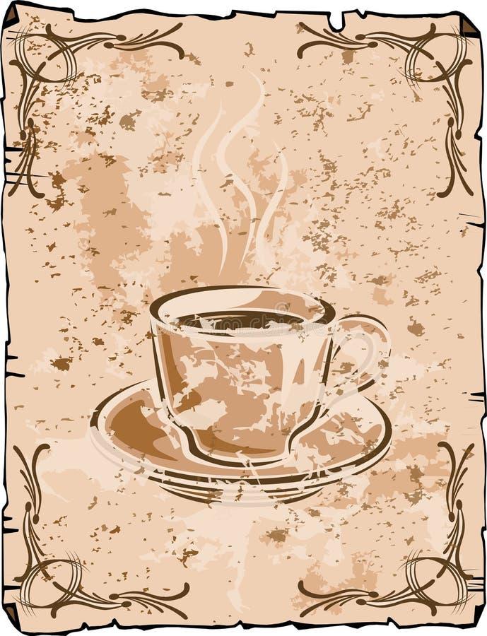 Fond de cuvette de café illustration de vecteur