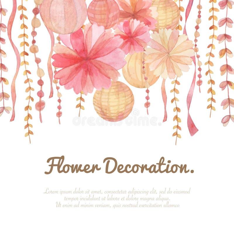 Fond de décoration de fleur illustration de vecteur