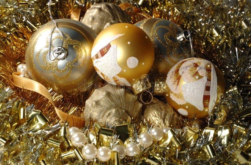 Fond de décorations de Noël photographie stock libre de droits