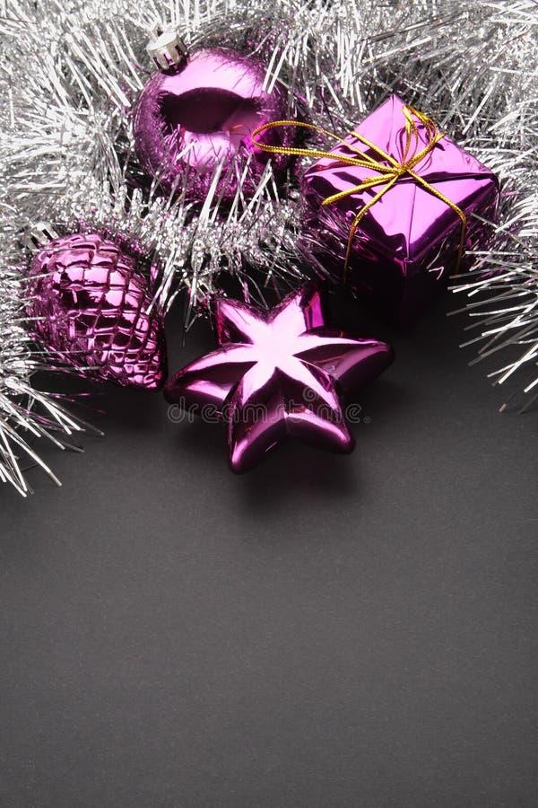 Fond de décorations de Noël photos libres de droits