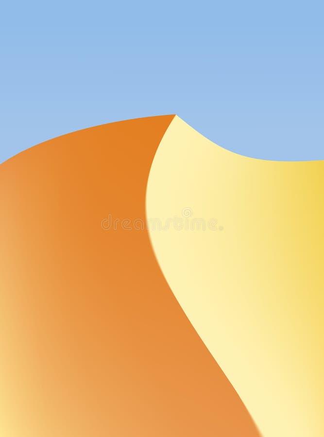 Fond de désert avec la dune de solitude et le ciel ouvert illustration libre de droits