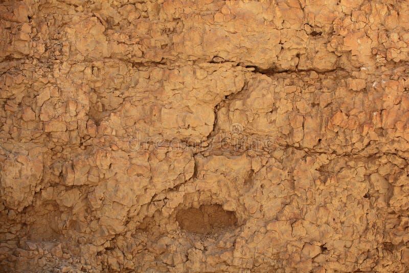 Fond de désert de roche, Ein Gedi, Israël photographie stock