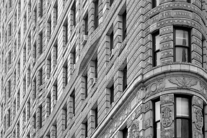 Fond de détail d'architecture de bâtiment de fer à repasser à New York images libres de droits