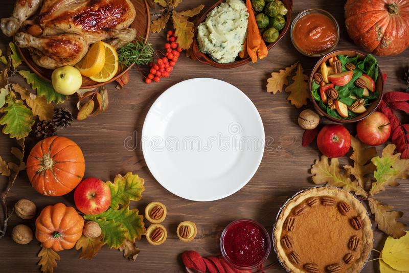 Fond de dîner de thanksgiving image libre de droits