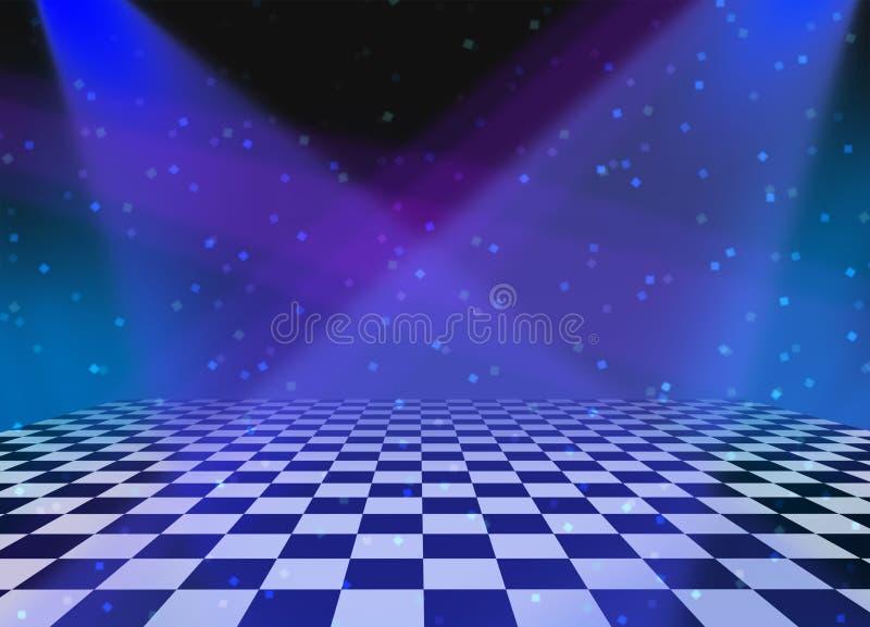 Fond de Dance Floor de réception illustration stock